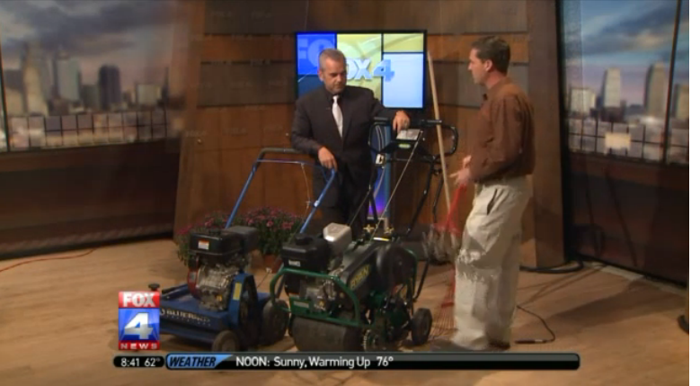 Patrick on Fox4 Fall Lawn Care Tips
