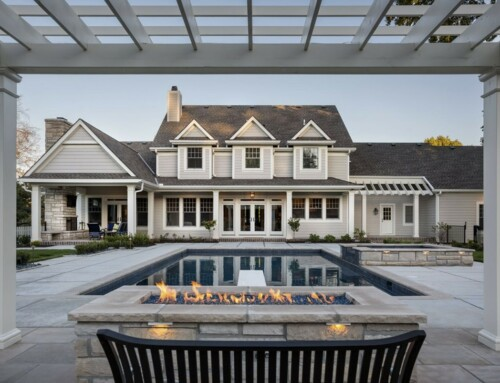 Estate Pool and Outdoor Living Room Oasis in Leawood